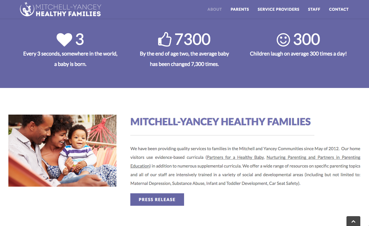 Mitchell-Yancey Healthy Families - About Page