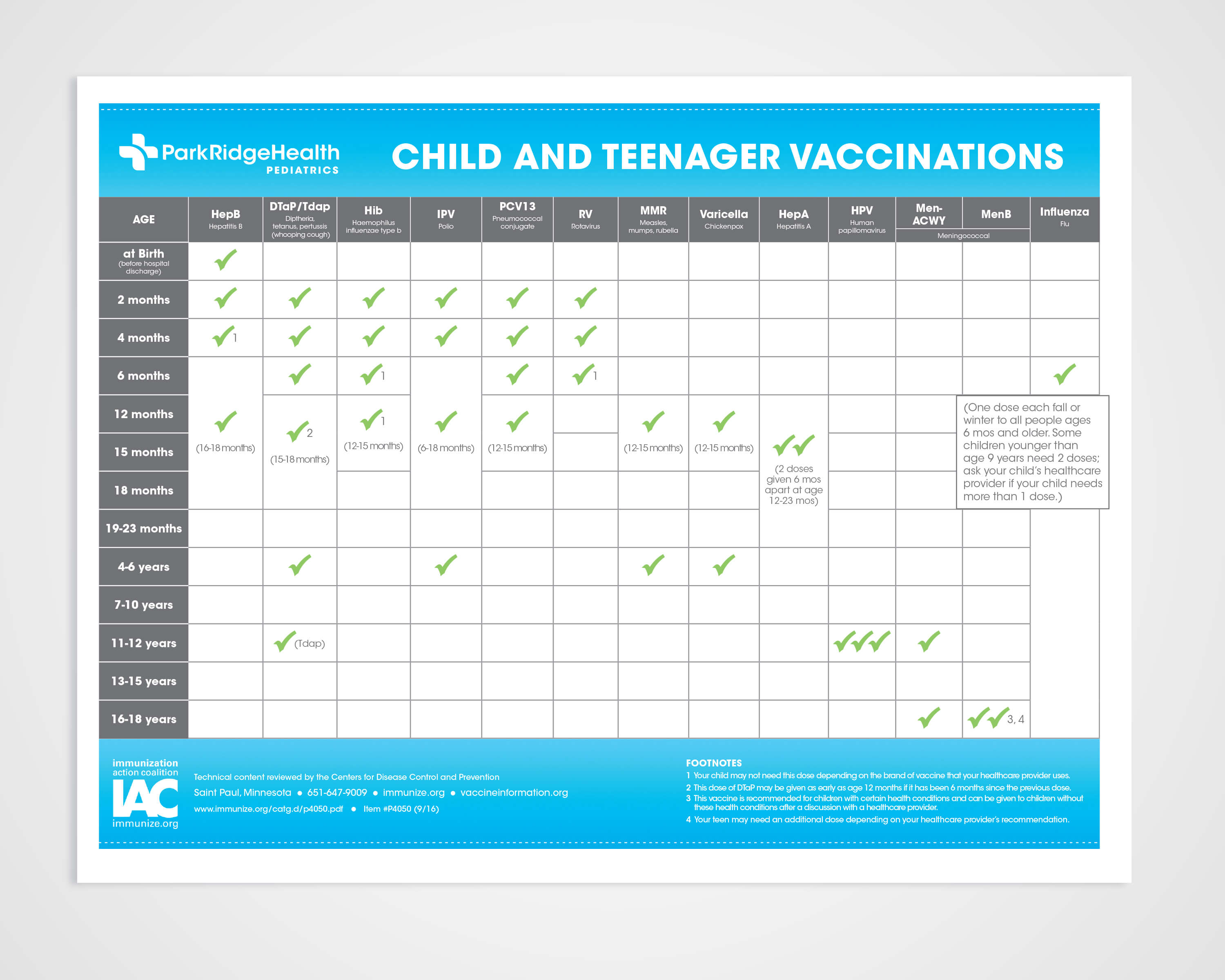 Park Ridge Baby Place Vaccine Schedule Layout and Design